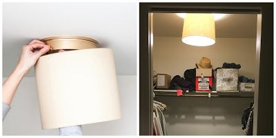 quick closet light fix - no tools needed!