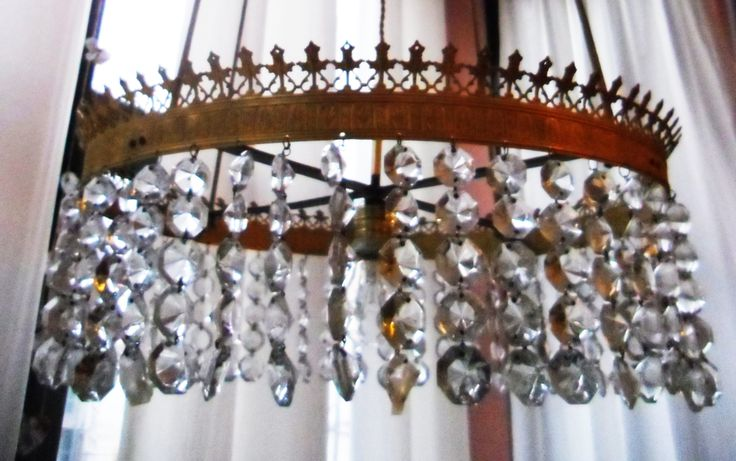 Lamp made from dismanteling old lamps.
