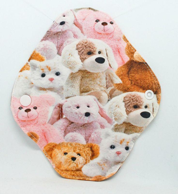 Teddy bear cloth pantyliner - cloth pantyliner - cloth menstrual pad - reusable menstrual pad - rumps - reusable cloth pad - sanitary pad by leonorafi on Etsy