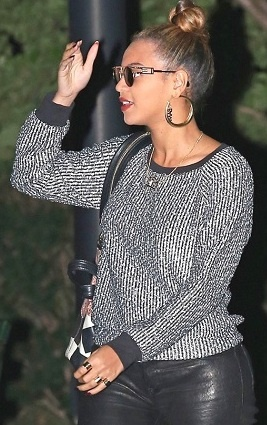 Beyonce wears Obama Gold Earrings by Erika Pena and Cazal 958 Vintage Frames.