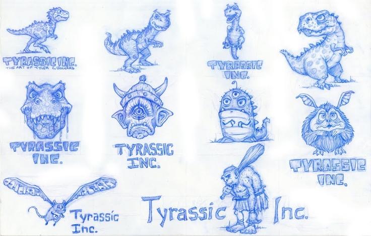 Tyrassic Inc.: Logo Sketches