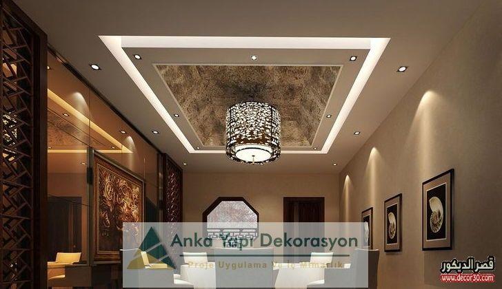 اشكال اسقف جبس بورد غرف وصالات وريسبشن متنوعة قصر الديكور Plafond Design Kids Bedroom Designs False Ceiling Design