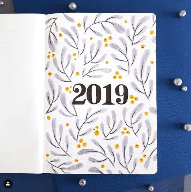 Top 15 Hello 2019 Bullet Journal Titelseiten