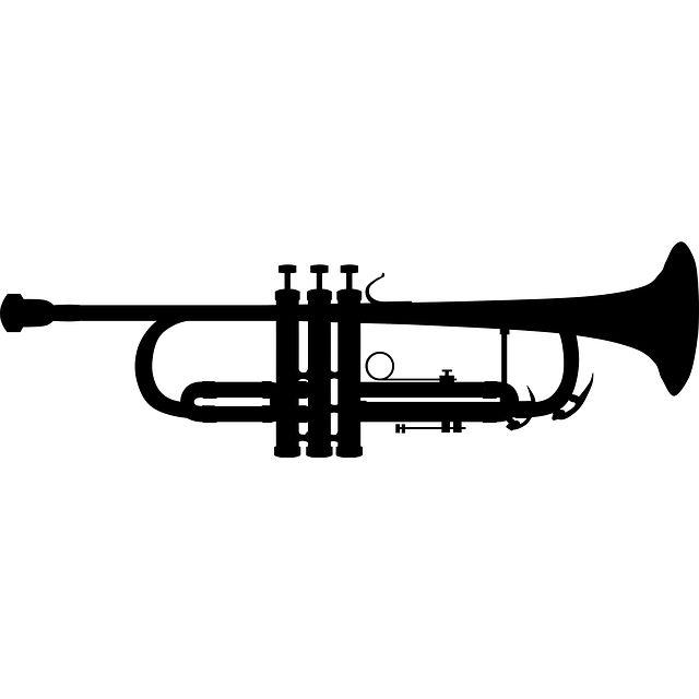 Brass instrument (trumpet) silhouette