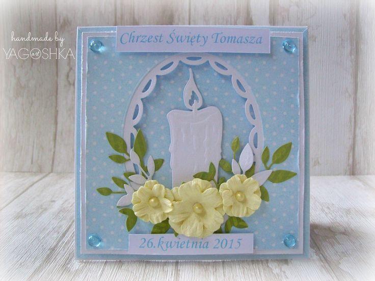 Zestaw na Chrzest Święty - exploding box i kartka baby blue