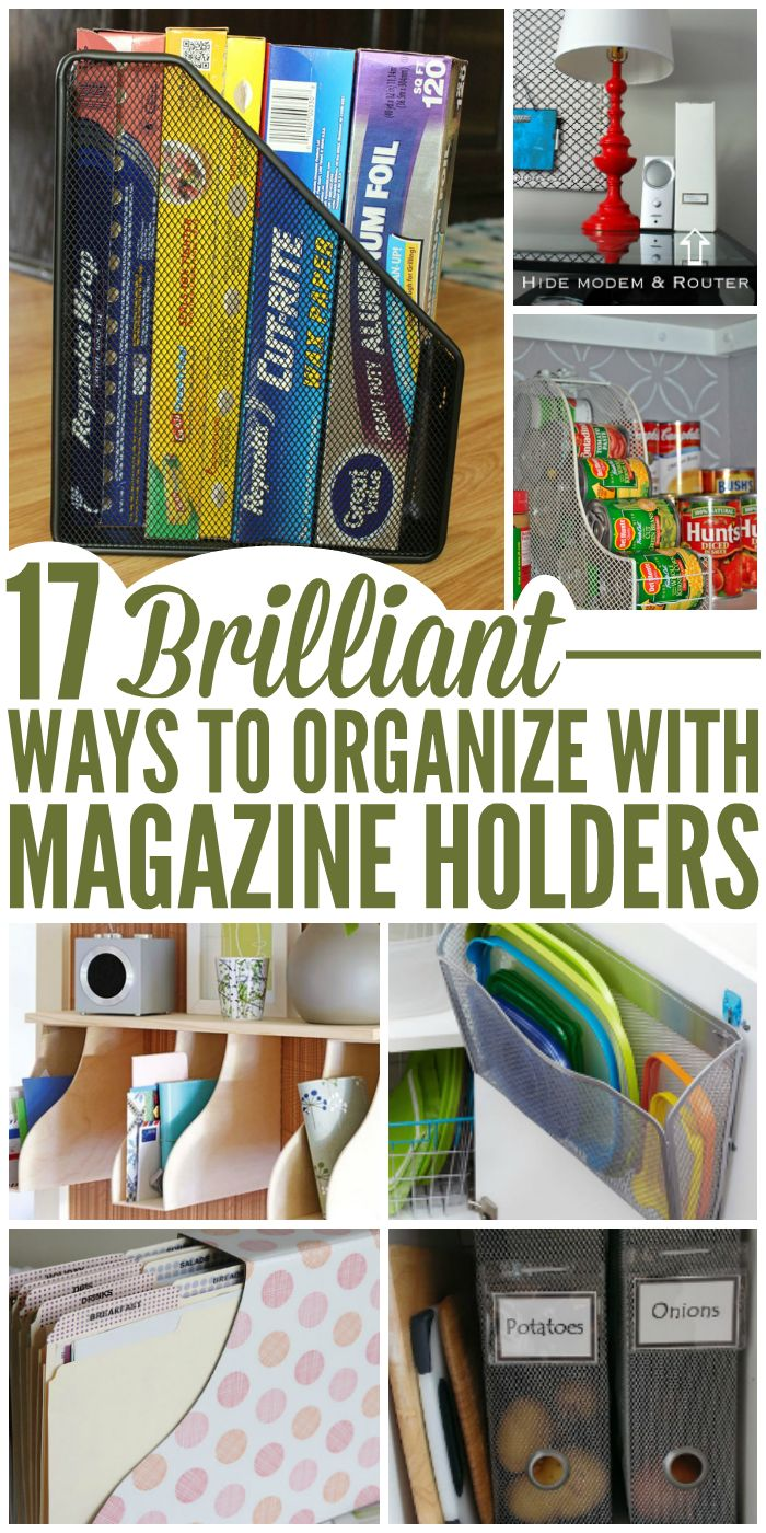 Until recently, I had no idea that magazine holders could be so useful! From kitchen to office, magazine holders could be the organization solution you are desperately looking for. See for yourself!