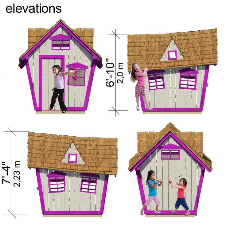 Crooked playhouse floor plans pdf cubby house ideas for Playhouse with garage plans