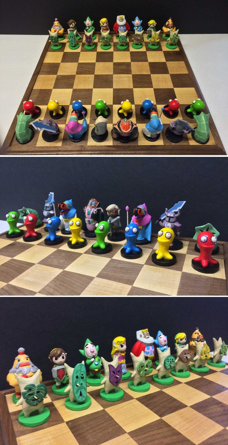Legend Of Zelda Chess Set #zelda #legendofzelda #link #chess #nintendo #merch #merchandise