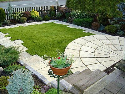 Artificial Grass For Lawn Design For A Small Area.