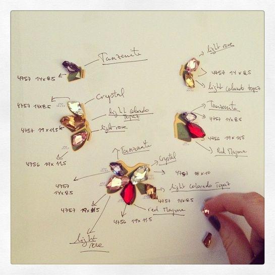 Les croquis de Ca&Lou http://www.vogue.fr/joaillerie/a-voir/diaporama/dans-l-atelier-des-createurs-de-bijoux-sur-instagram-aurelie-bidermann-delfina-delettrez-brooke-gregson/18701/image/999493#ca-and-lou-instagram