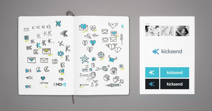 Kicksend: logo and icon design — SFCD