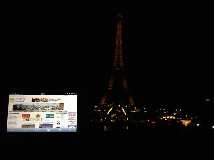 Je t' aime e-evros.gr!  Στην Γαλλία και πιο συγκεκριμένα στο Παρίσι βρέθηκε ο φίλος Γιώργος για τις γιορτές του Πάσχα.   Εκεί λοιπόν, μπροστά από τον πύργο του Άιφελ έριχνε ματιές στο αγαπημένο του portal.