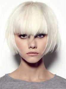 Details about Fashionable Straight Blonde Wig with Special Layered Hair Cut