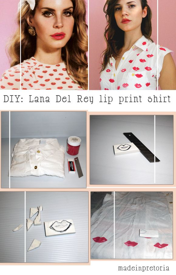 DIY: Lana Del Rey Lip Print Shirt