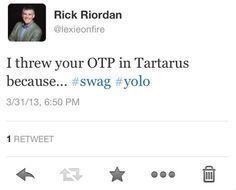 Image result for rick riordan tweets