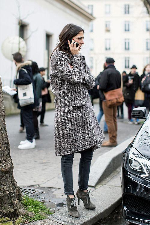 {Grey coat.}