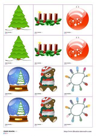 Librairie-Interactive - Jeux de memory de Noël