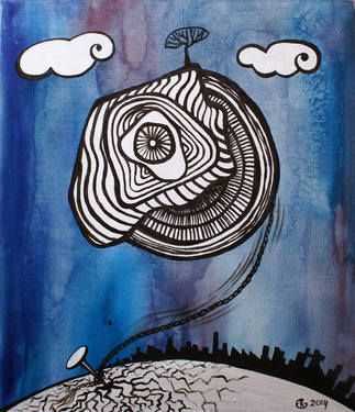 "Saatchi Art Artist Esra Kizir Gokcen; Painting, ""Tied Up"" #art"
