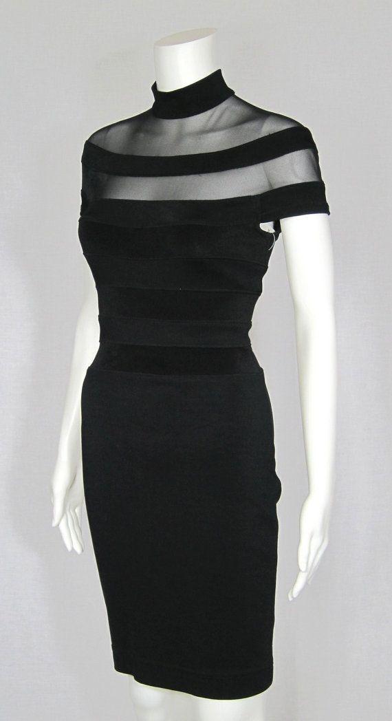 A black dress like this. Elegant.