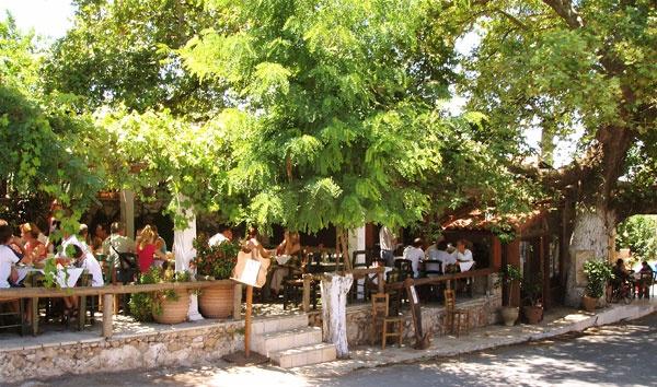 Vamos, Crete - Bloumosifi Taverna  wonderful Cretan food!