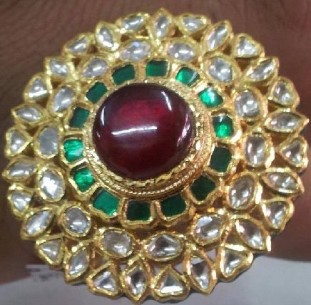 Kundan cocktail ring