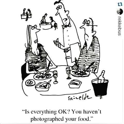 We love this comic posted by @rekkebus! Do you photograph your food?  #comic #foodie #foodporn #foodpics #funnybuttrue