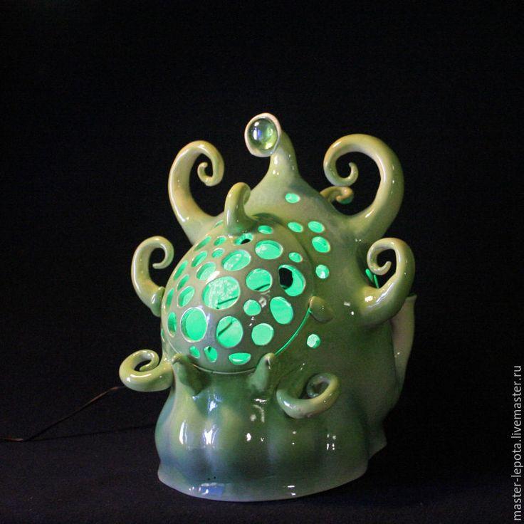 Купить Актиния зеленоглазая. Керамика - увлажнитель, туман, туманный, туманогенератор, инопланетянин, инопланетяне, фантастика, космос