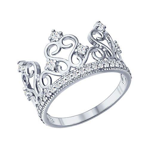 Теперь драгоценной диадемой могут похвастаться не только представители королевской семьи или победительницы конкурсов красоты. Серебряное кольцо-корона займёт достойное место в вашей шкатулке, а стильный дизайн украшения и блеск фианитов позволят вам выглядеть действительно по-королевски.