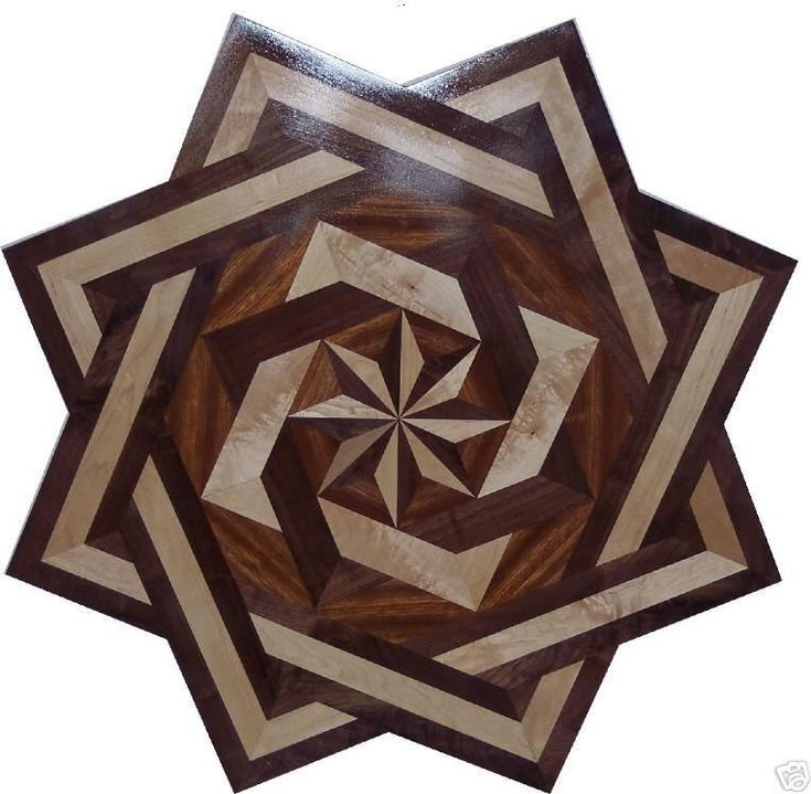 Hardwood Floor Medallion Inlays and Compass Roses