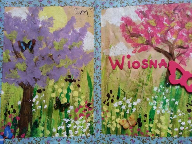 Spring art journal page