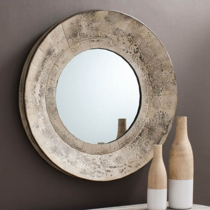 17 best images about round mirrors on pinterest antique for Round wood mirror