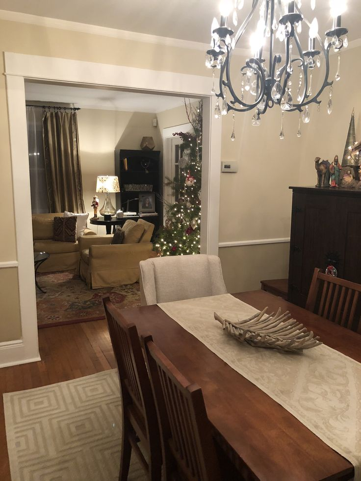 Christmas living room dining room Raffia Cream Behr Paint ...