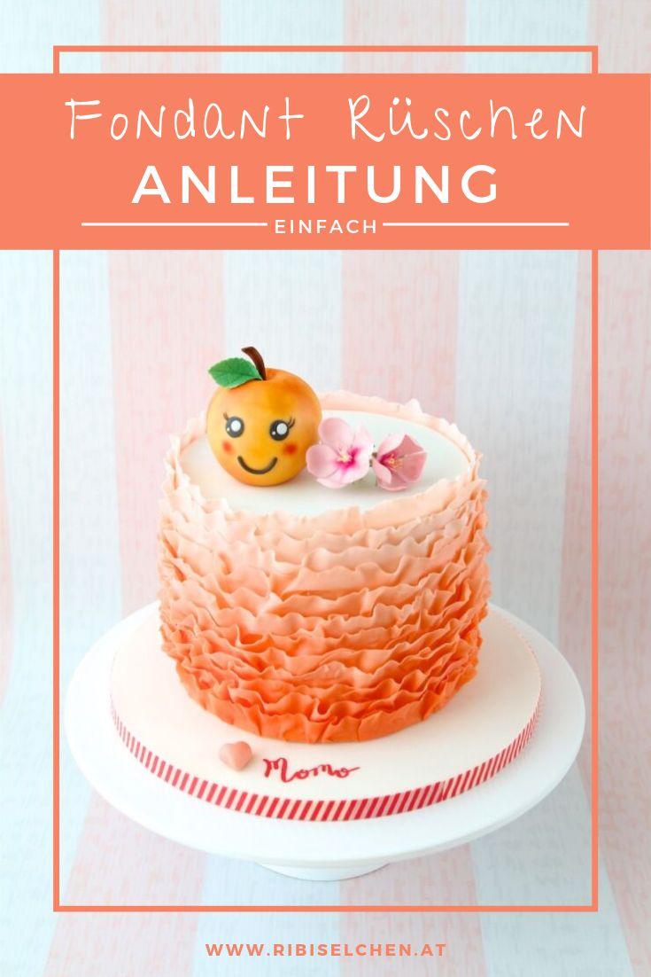 FONDANT RUFFLES ANLEITUNG: Zarte Rüschen für Ihren Kuchen!   – Anleitungen