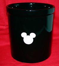 MICKEY MOUSE STONEWARE UTENSIL HOLDER ~ KITCHEN GLASS