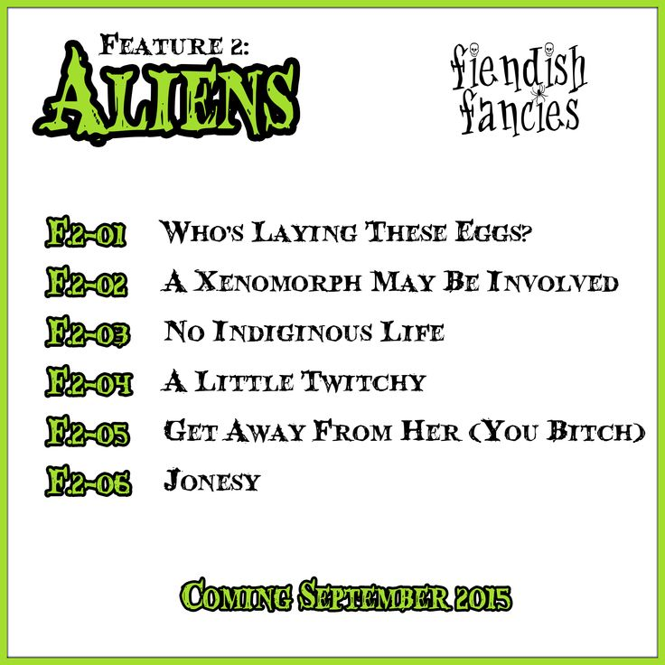 Coming Soon from Fiendish Fancies: The Aliens collection