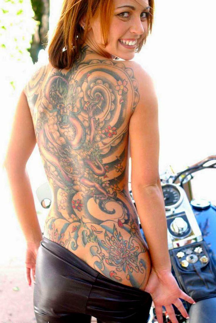 Motorcycle with biker tattoo - K T Qu H Nh Nh Cho Biker Tattoos For Women