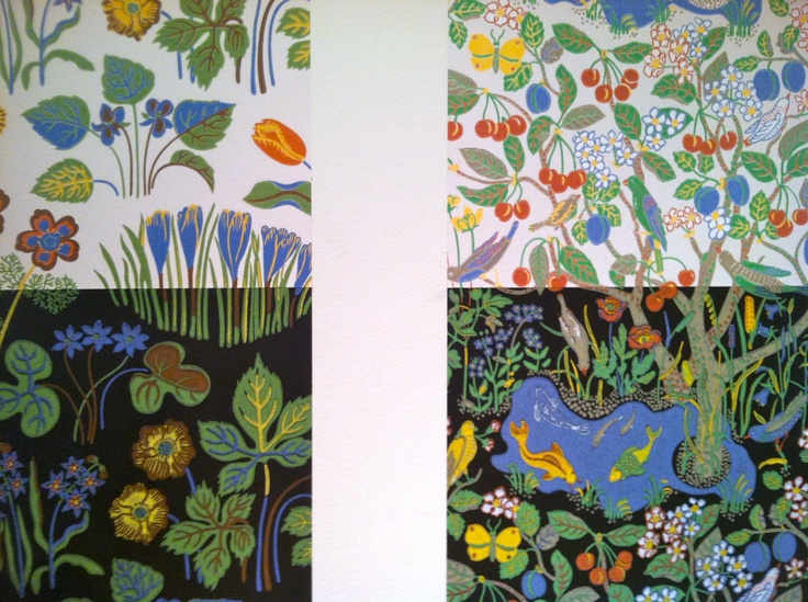 Fabrics designed by Josef Frank, Svenkst Tenn, Stockholm.  #PinStockholm