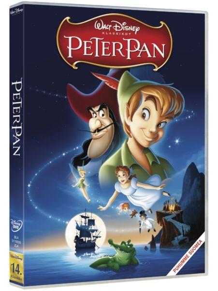 Peter Pan -DVD. Klassikkosadussa Peter Pan ja Helinä-keiju vievät lapset mukanaan Mikä-mikä-maahan, joka on täynnä jännitystä, taikaa, intiaaneja ja merenneitoja. Mutta siellä on myös Peter Panin suurin vihollinen Kapteeni Koukku ja tämän häijyt merirosvot…