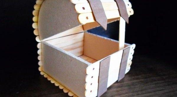 Como Fazer Baú com Palitos de Picolé Reciclados | Reciclagem no Meio Ambiente – O seu portal de artesanato com material reciclado