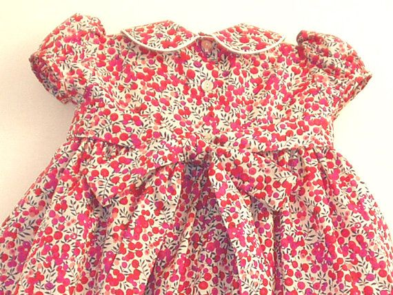 Liberty Tana Lawn Dress with matching knickers for A Little