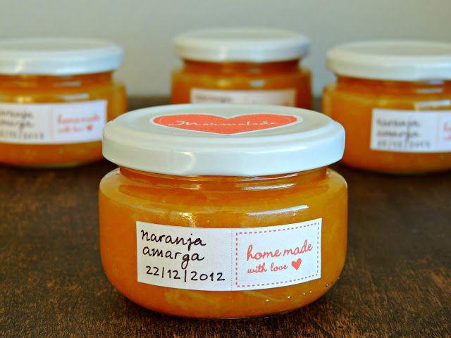 PLATA Y CHOCOLATE: Etiquetas bonitas para la mermelada casera
