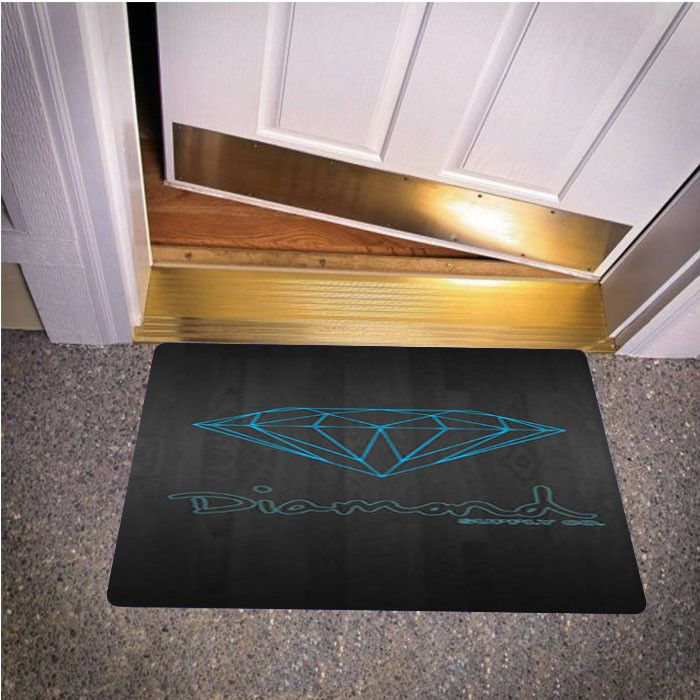 BLUE DIAMOND SUPPLY CO DARK WOOD BEDROOM CARPET BATH OR DOORMATS