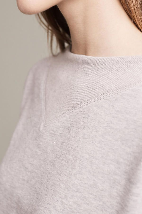 Slide View: 3: Heather Ribbed Pullover