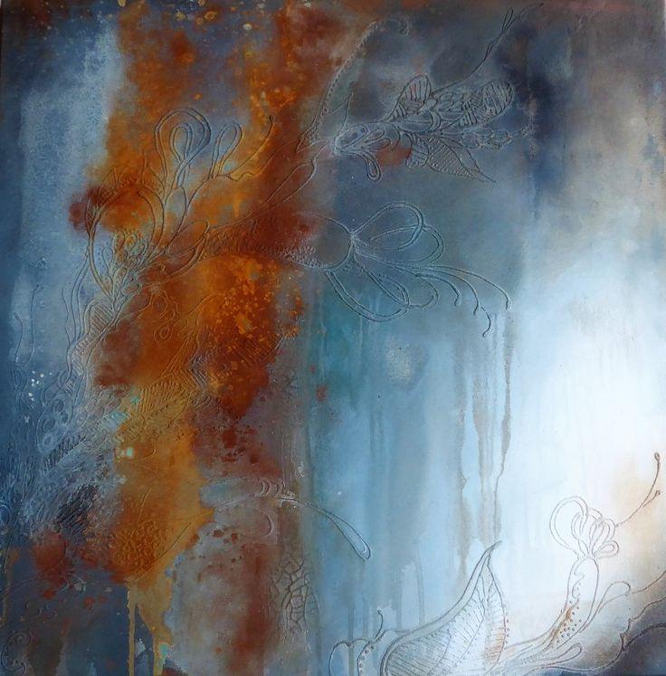 80x80 Acryl, pigments, oxydes Bea Lecomte
