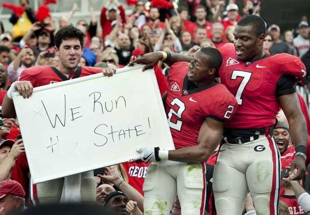 Go Dawgs! Aaron Murray, Brandon Boykin, and Orson Charles. Fall 2011. Cannot wait to hear Orson's name called in the draft  this year :)