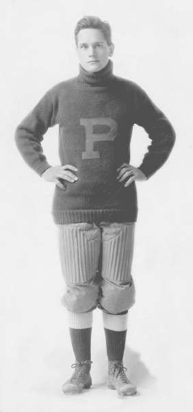 (po1077pi): Ernest was an all-star football player at Prescott High School, graduating in 1914. He was a junior at Stanford University when the U. S. entered WWI. He dropped out of school to join the army.