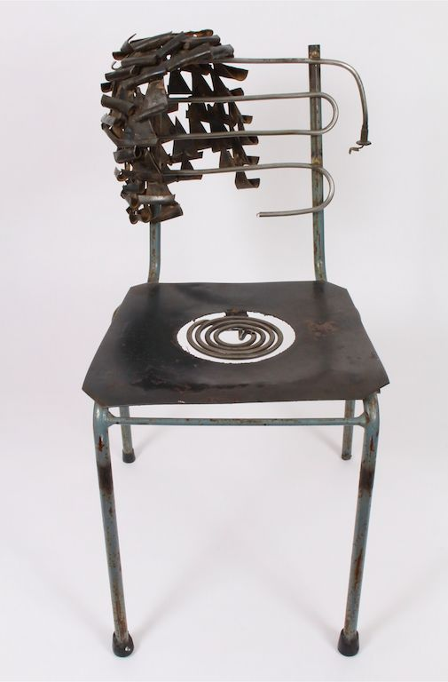 Adam Madebe, 'Hotseat',1989, Wood, Metal, Found Objects, 40 x 80 x 36 cm, Courtesy of Inzart