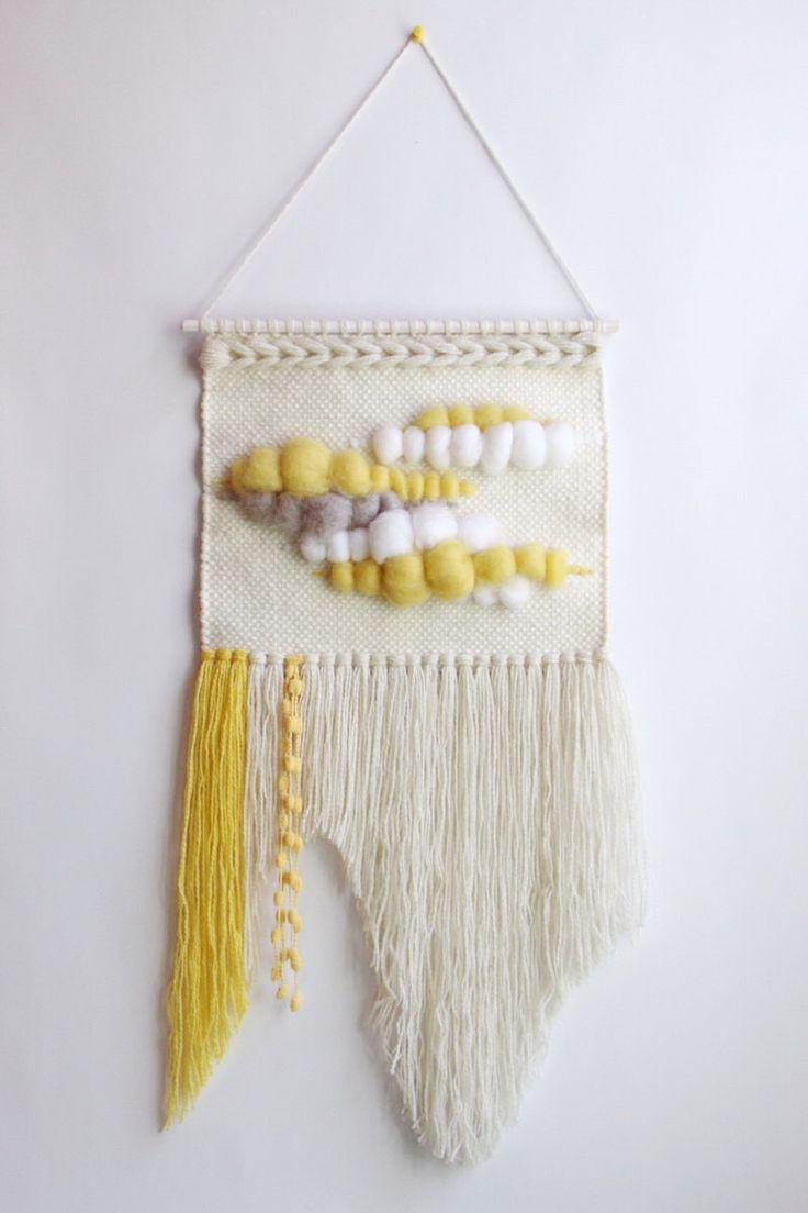 Weaving by Delekselja on Etsy https://www.etsy.com/listing/385321572/woven-wall-weaving-wall-hanging-wall