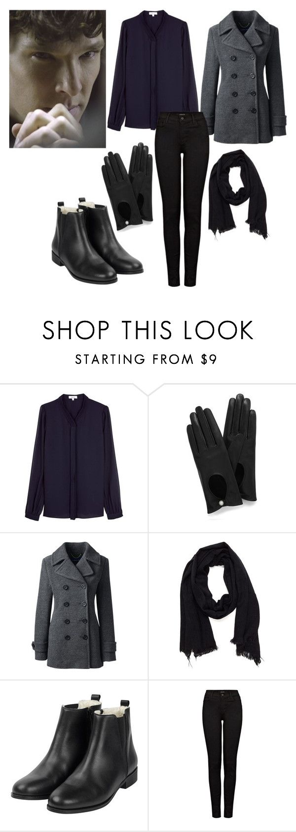 """""""Sherlock inspired outfits - Sherlock Holmes"""" by cheshirecat03 ❤ liked on Polyvore featuring Reiss, Mulberry, Lands' End and J Brand"""