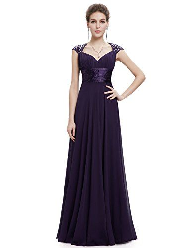 MACloth Gorgeous Long Prom Dress 2018 Straps Lace Chiffon Formal Evening Gown (54, Azul Marino Oscuro)
